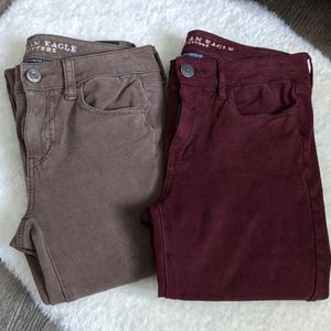2 American Eagle jeggings